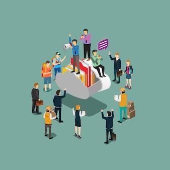 Cloud computing für die moderne technologie