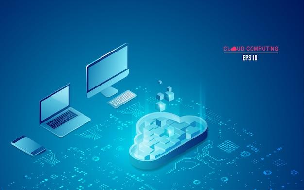 Cloud computing in isometrischer form