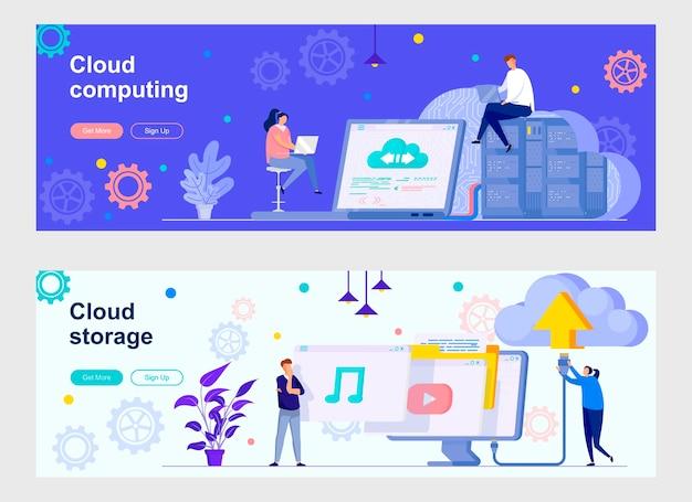 Cloud computing landing page set