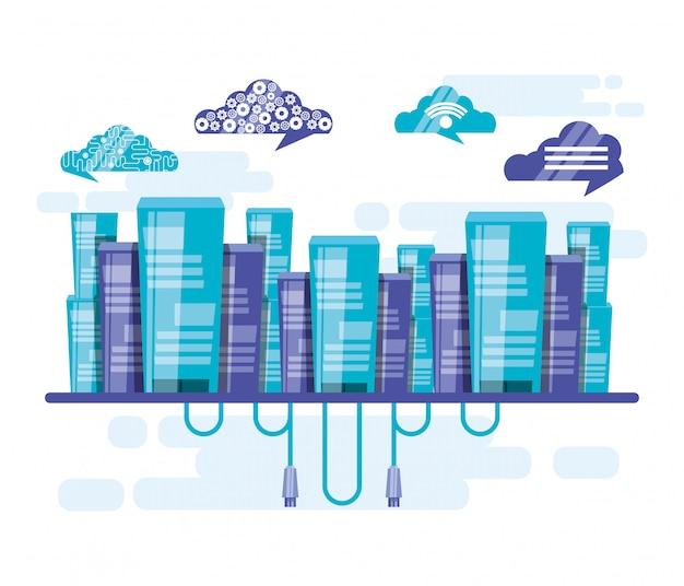 Cloud computing mit gebäuden