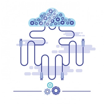 Cloud computing mit netzwerkverbindung