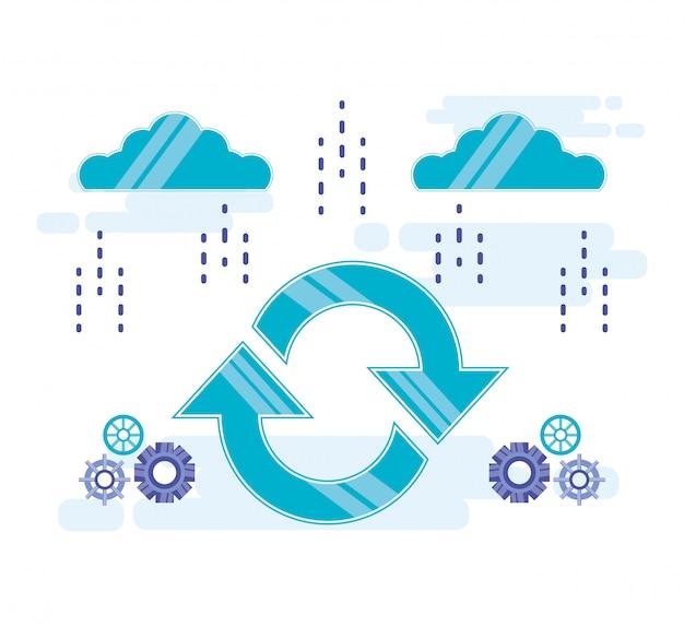 Cloud computing mit pfeilen aktualisieren