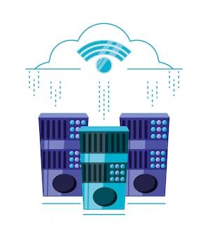 Cloud computing mit wlan-verbindung