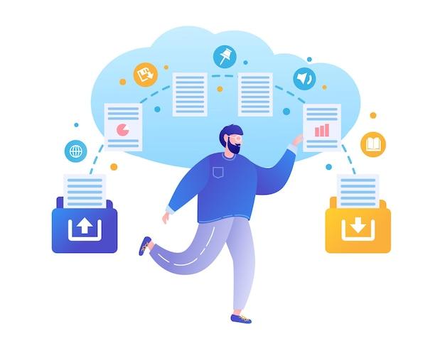 Cloud computing netzwerk-cloud-dienst kopieren von dateien backup-dateifreigabekonzepte