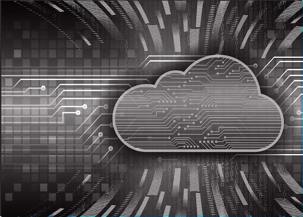 Cloud-computing-schaltung zukunftstechnologie konzept hintergrund hud