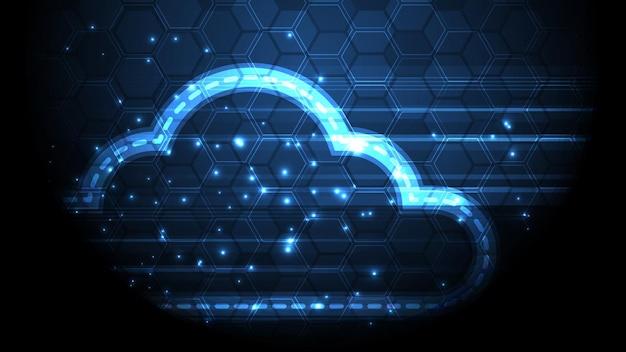 Cloud-computing-speichertechnologie-hintergrund für digitale datendienste innovationskonzept
