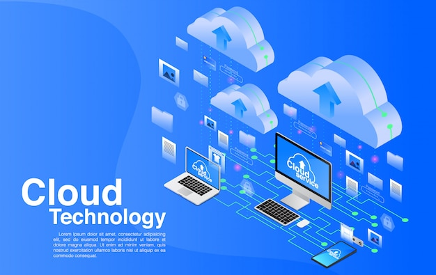 Cloud-computing-technologie.