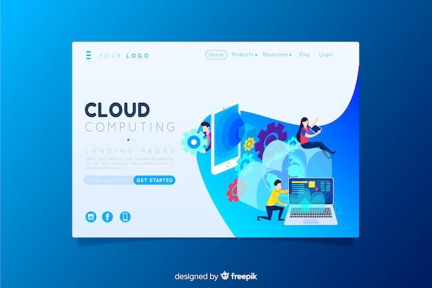 Cloud-computing-zielseite
