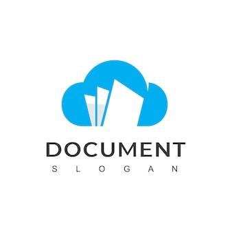 Cloud-datei-logo-vorlage, online-dokumentsymbol