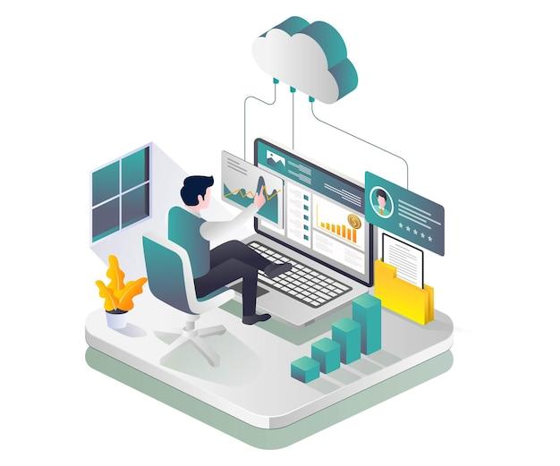Cloud-datenanalyse und serverinvestitionen