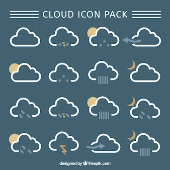 Cloud-icons pack