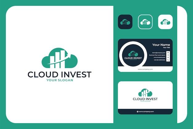 Cloud invest logo-design und visitenkarte