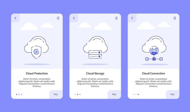 Cloud-schutz cloud-speicher cloud-verbindung onboarding