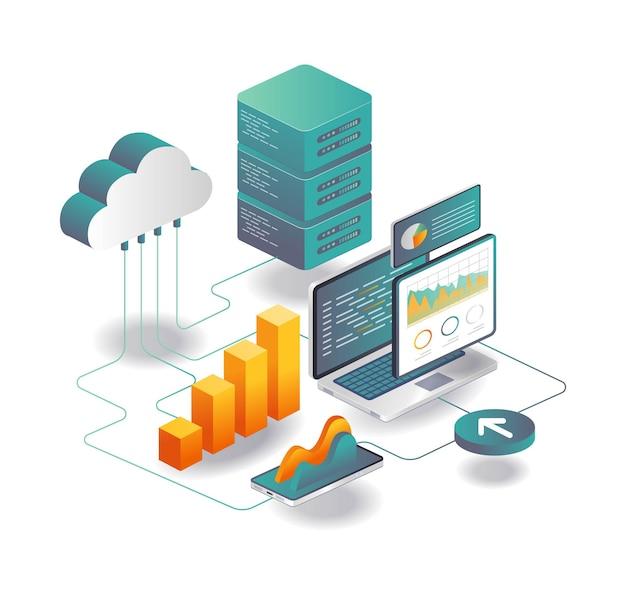 Cloud-server-datenanalyse und programmierer