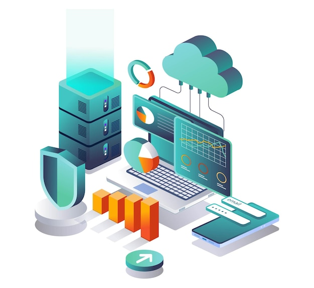 Cloud-server mit hosting-sicherheit analysieren