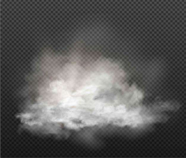 Cloud-set und rauch auf transparentem hintergrund isoliert