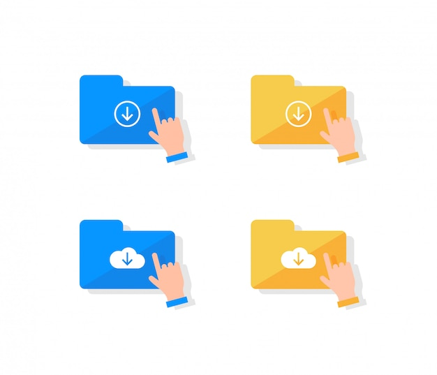 Cloud-speicher-icon-set.