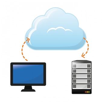 Cloud-speicher-symbolbild