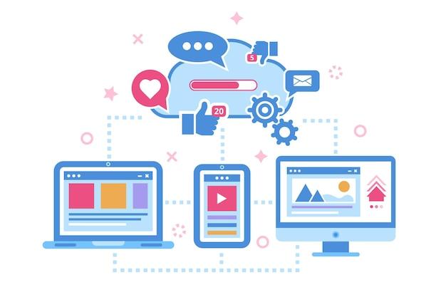 Cloud-speicherdatenkonzept für die gerätesynchronisierung