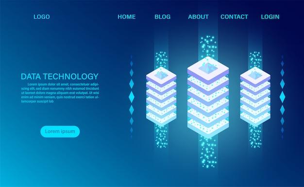 Cloud-speichertechnologie für rechenzentrums-serverräume und verarbeitung großer datenmengen