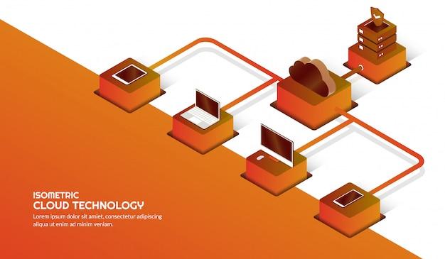 Cloud-speichertechnologie und rechenzentrumskonzept