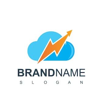 Cloud-statistik-logo-design-vorlage