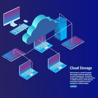 Cloud storage-konzept datenübertragung