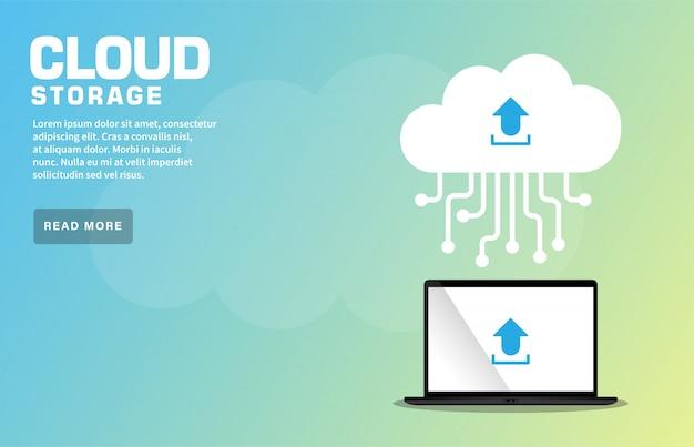 Cloud storage-zielseite