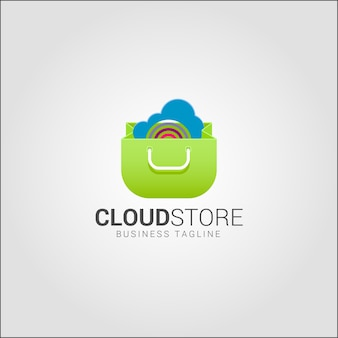 Cloud store - online-shop logo vorlage