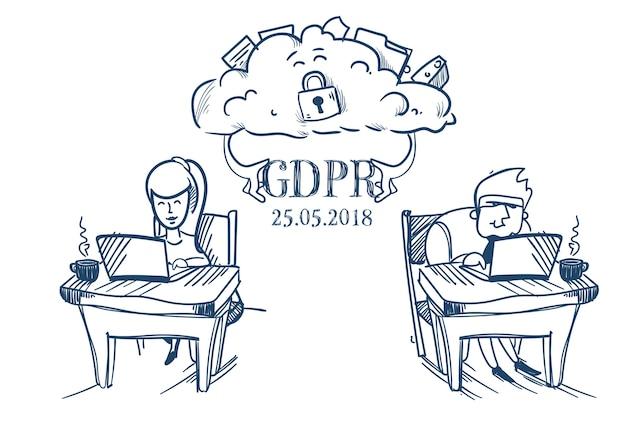 Cloud-synchronisierung geschäftsleute team