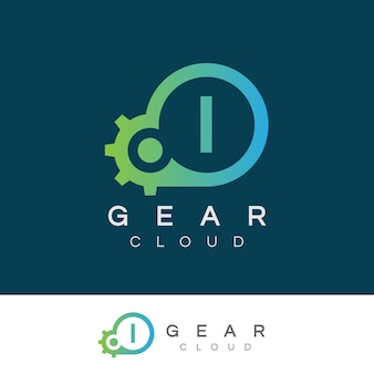 Cloud technology anfangsbuchstabe i logo design