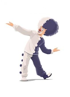 Clown, big top zirkus shapito clown in perücke