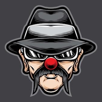 Clown chicano des alten mannes