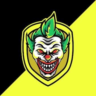 Clown esport maskottchen