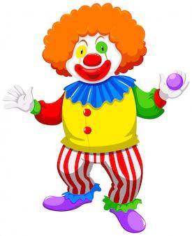 Clown hält eine kugel