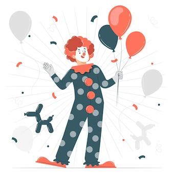 Clown-konzeptillustration