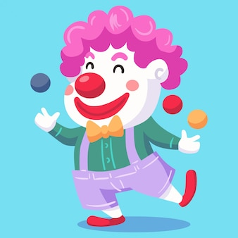 Clown-vektor-illustration