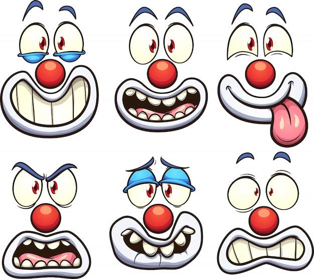 Clownsgesichter