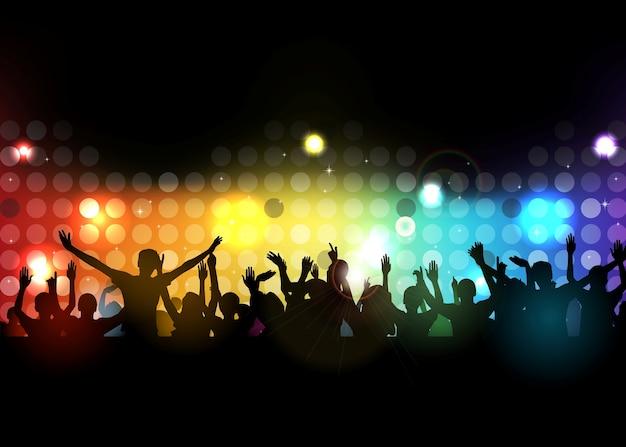 Club party mit tanzenden menschen
