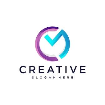 Cm logo design Premium Vektoren