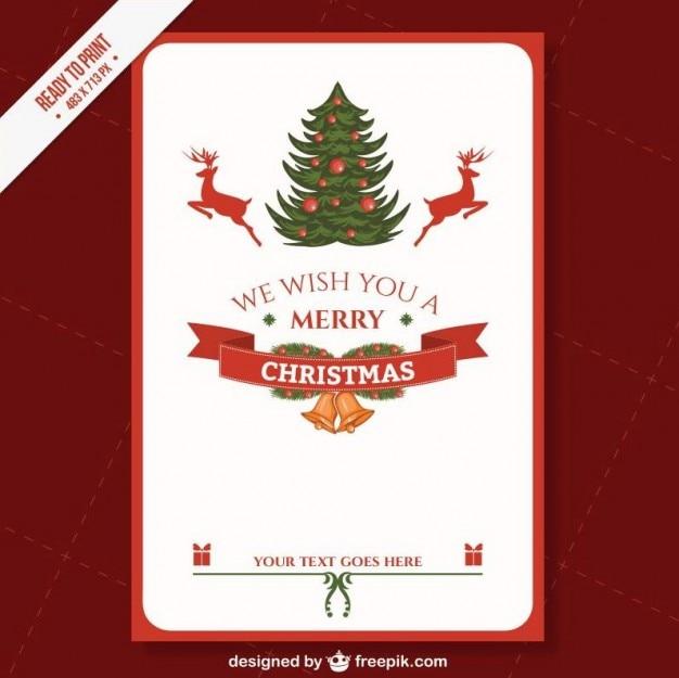 Cmyk druckweihnachtskartenschablone