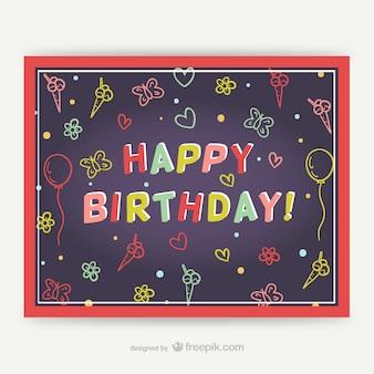Cmyk happy birthday-karte