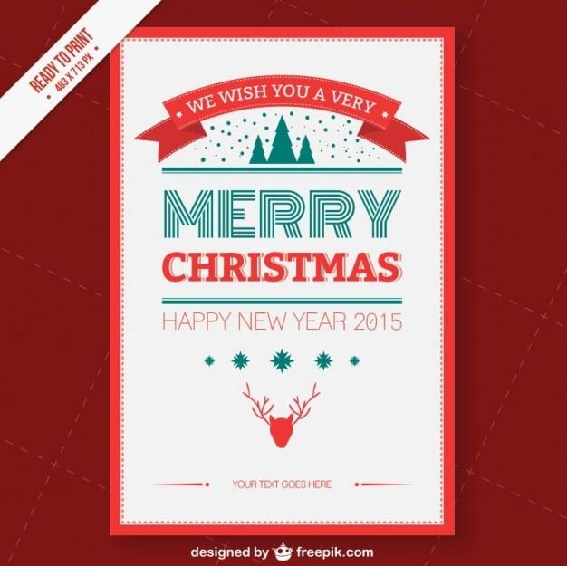 Cmyk weihnachtskarte