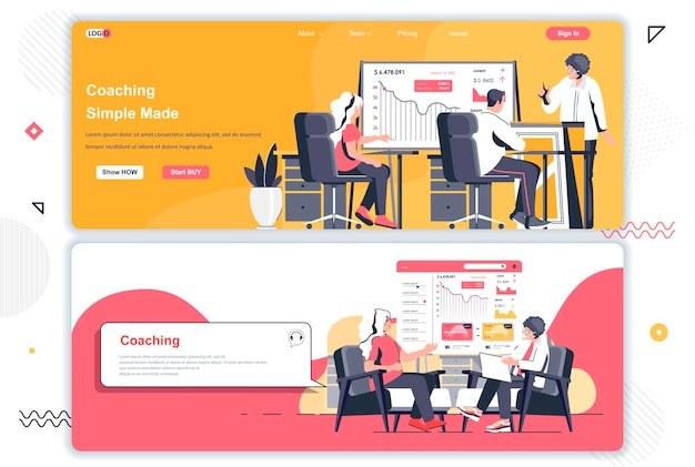Coaching von landing pages