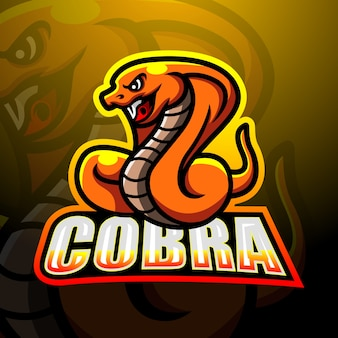 Cobra maskottchen esport illustration