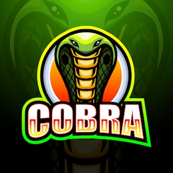 Cobra maskottchen esport logo illustration