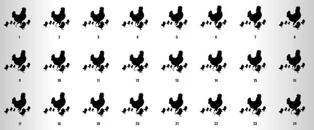 Cock walk zyklus animationssequenz vektor
