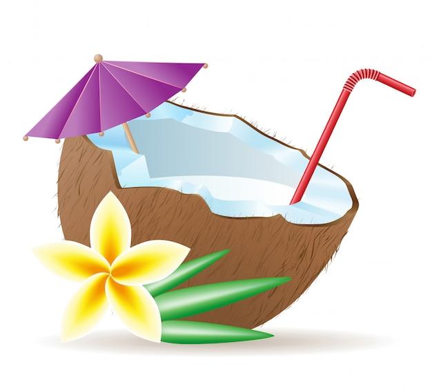 Cocktail aus kokosnuss