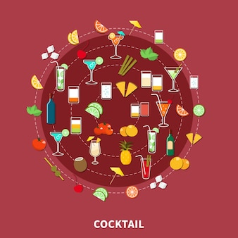 Cocktail-icon-set