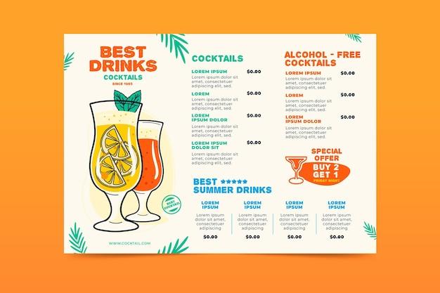 Cocktail-menü-konzept
